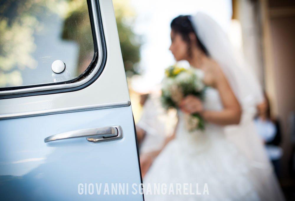 Auto sposa reportage di matrimonio a Paestum