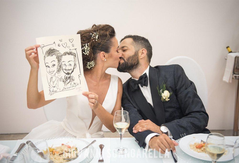 Caricaturista matrimonio Paola Paolino