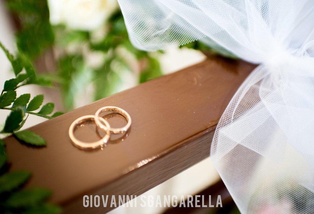 Dettaglio fedi matrimonio a Paestum