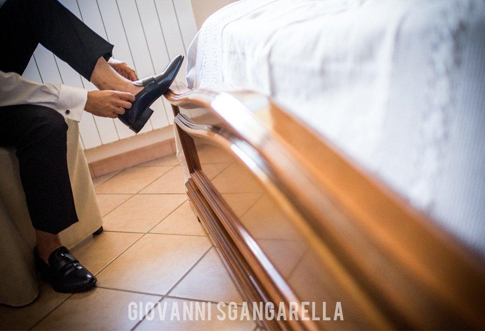 Scarpe sposo matrimonio a Paestum