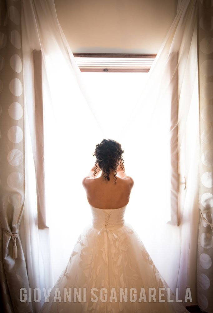 Sposa fotografo di matrimonio a Paestum