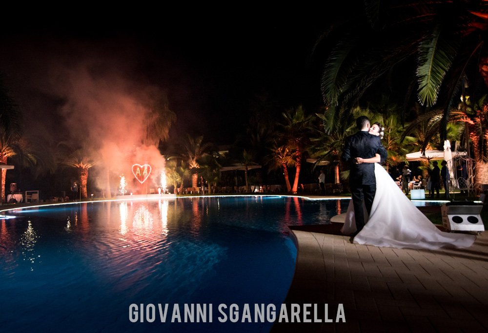 Sposi a bordo piscina - Paestum