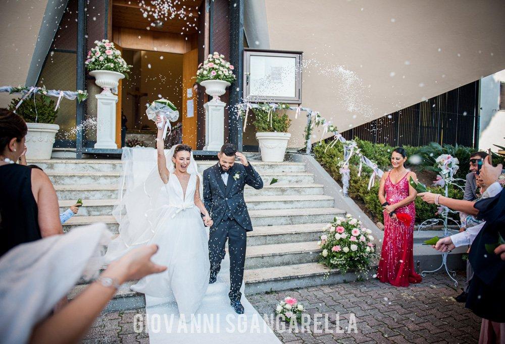 Uscita sposi - Fotografo matrimonio a Paestum