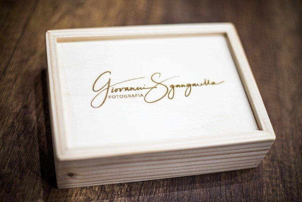 Box in legno per fotografie